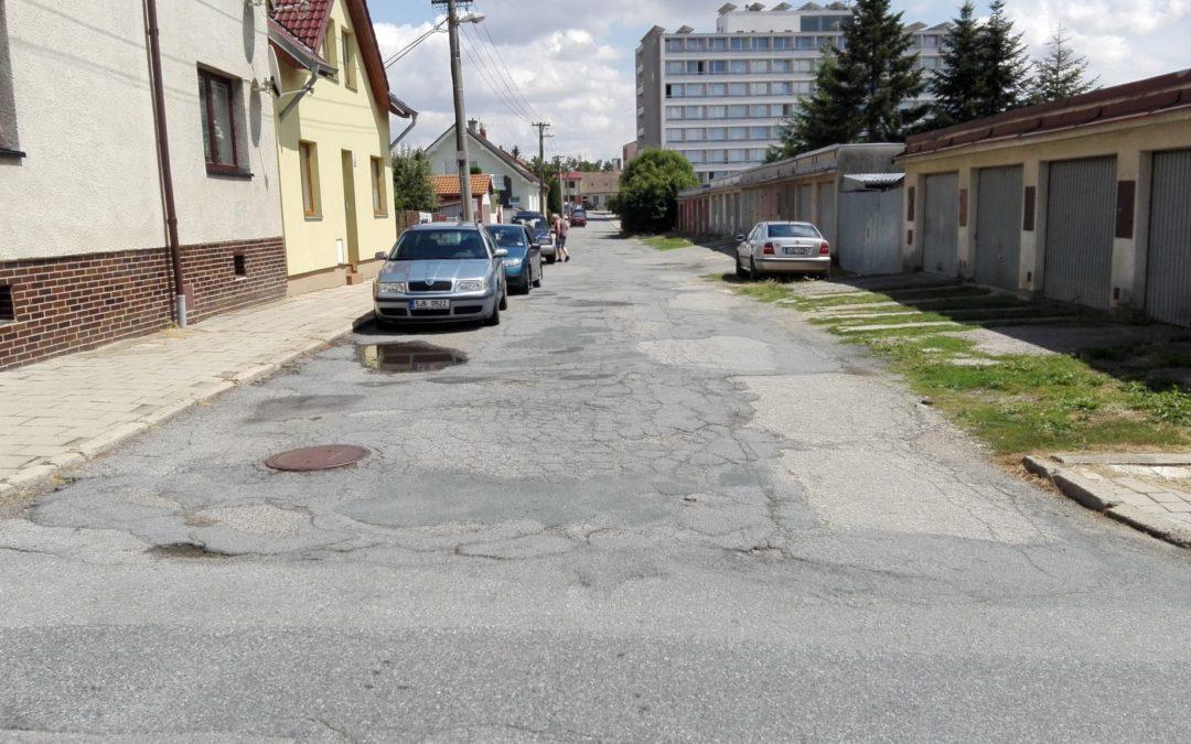 Silnice a chodníky v Třebíči