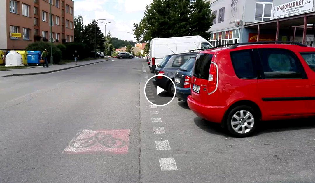 Cyklopruh na ulici Modřínová
